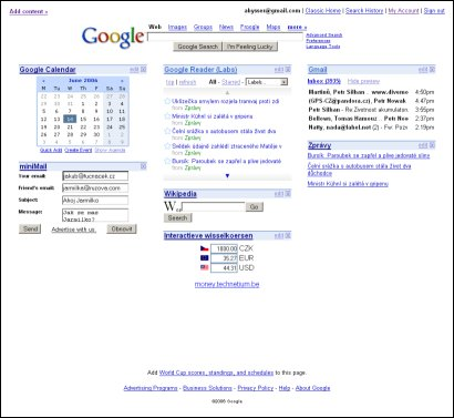 Google Personalized Homepage